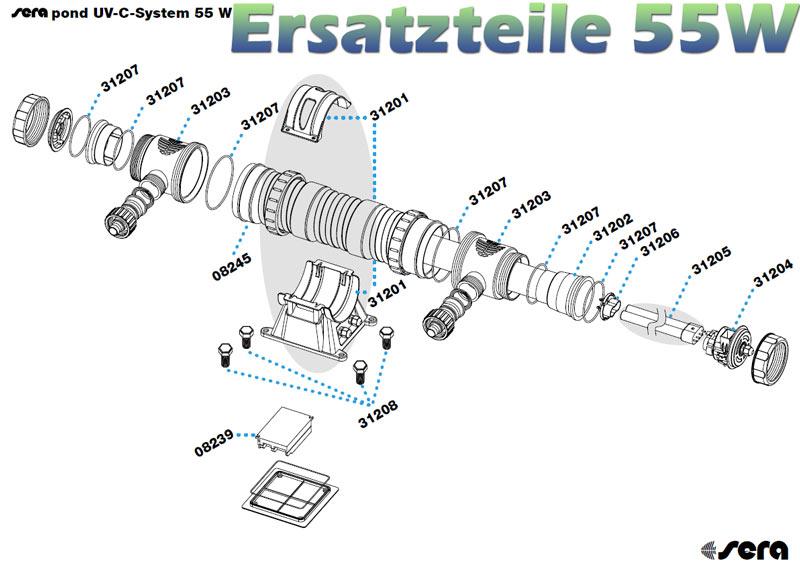 sera-pond-55w-uvc-system-ersatzteile-explosionszeichnung