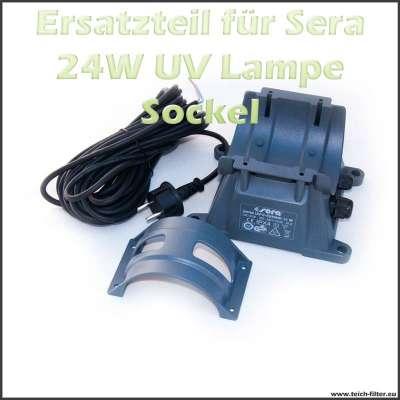 Ersatzteil 08241 Sockel mit Kabel und Spannring für 24W Sera UVC Klärer