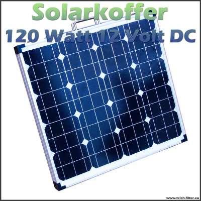 Faltbares Solarmodul 120W 12V als Solarkoffer für Garten, Wohnmobil und Camping