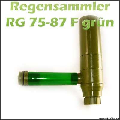 Regensammler RG 75-87 F grün für Fallrohre und Regentonnen zum Sammeln von Regenwasser