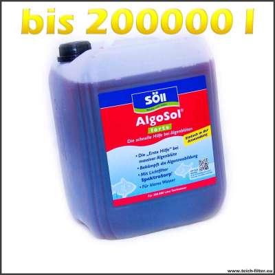 10 Liter Söll Algosol forte bis 200000l Teichwasser gegen Algenblüten