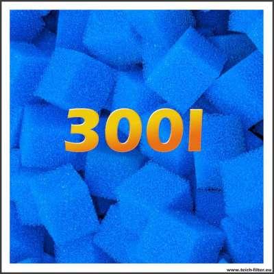 300 Liter mittelgrobe Filterschwämme für Teich