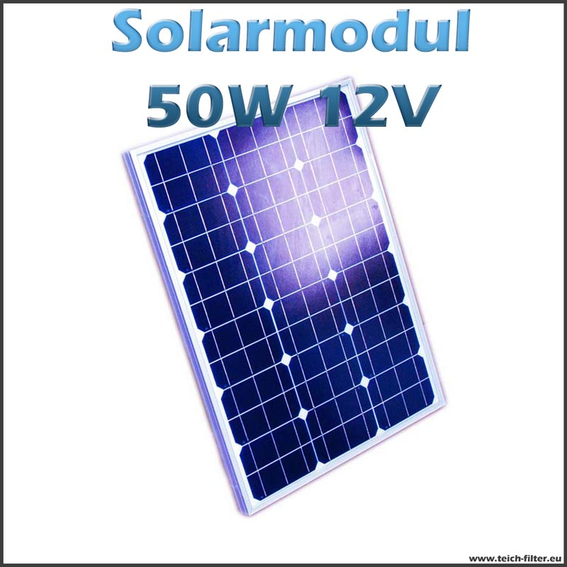 solarmodul 50w 12v monokristallin f r teich und pool. Black Bedroom Furniture Sets. Home Design Ideas