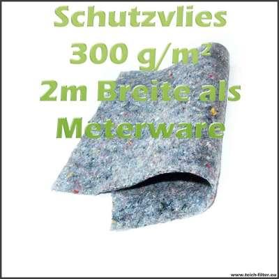 2m breites Schutzvlies wurzelfest 300g in grau als Meterware