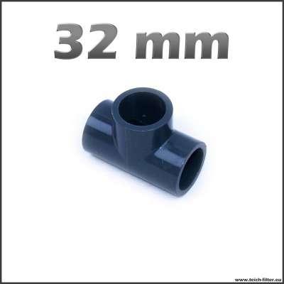 32 mm T-Stück mit Klebemuffen aus Plastik