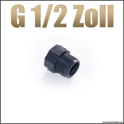 Verschlussstopfen Gewindestopfen G 1/2 Zoll aus Kunststoff Plastik