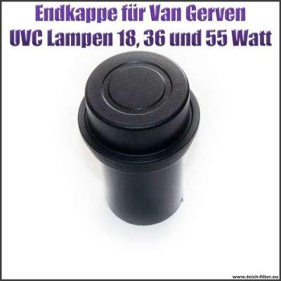 Endkappe als Ersatzteil für Van Gerven UVC Lampen Koi Professional Reflex 18, 36 und 55 Watt