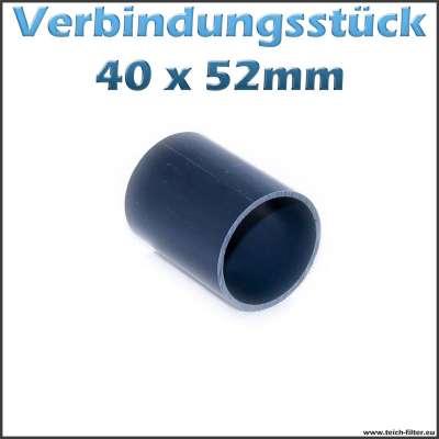 40x52mm Verbindungsstück aus PVC als Rohr