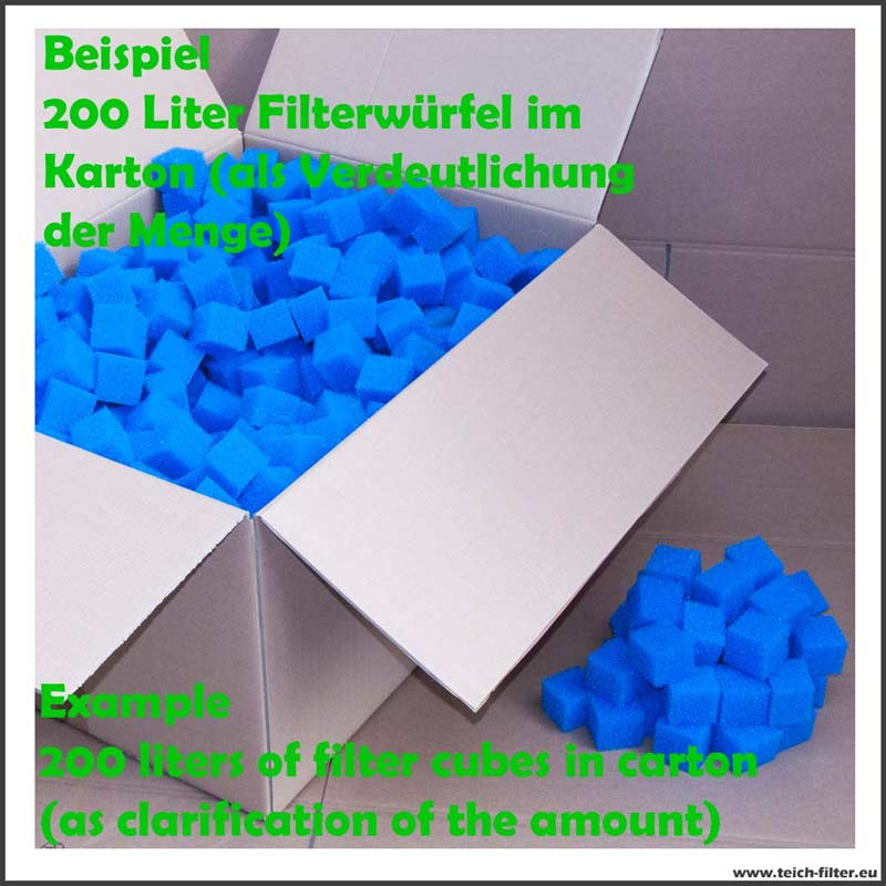 PPI 45 fein 50 L Filterwürfel Filterschaumstoff Bio Teichfilter Filtermatte