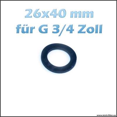 26 x 40 mm Gummidichtung für G 3/4 Zoll Gewinde