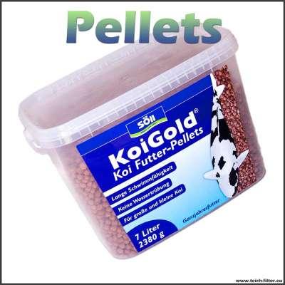 Fischfutter Pellets für Koi