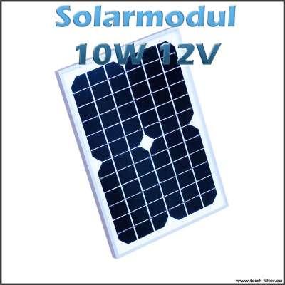 Solarmodul 10W 12V monokristallin für Garten und Camping