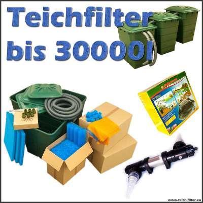 Teichfilter bis 30000 Liter Premium mit Teichpumpe und UVC Klärer aus Edelstahl