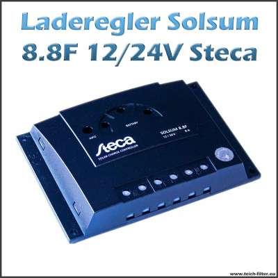 Steca Laderegler 12V-24V Solar 8A Solsum 8.8F für Gel Batterien