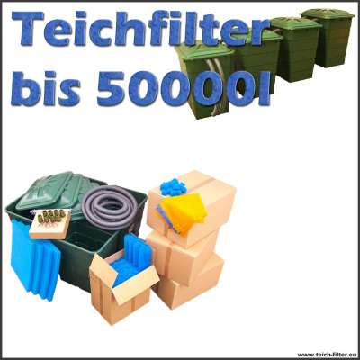 teichfilter 50000 liter ohne pumpe und uvc. Black Bedroom Furniture Sets. Home Design Ideas
