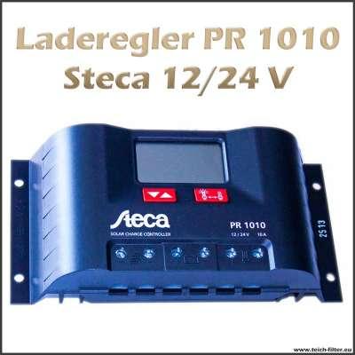 Laderegler 12V bis 24V PR 1010 für 10A von Steca an Solar Inselanlagen beim Camping