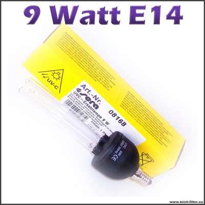 9 Watt UV Lampe E14 Sera für Teich und Aquarium