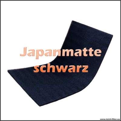 Schwarze Japanmatte 200 x 100 x 3,4 cm für Koiteich mit grober Struktur