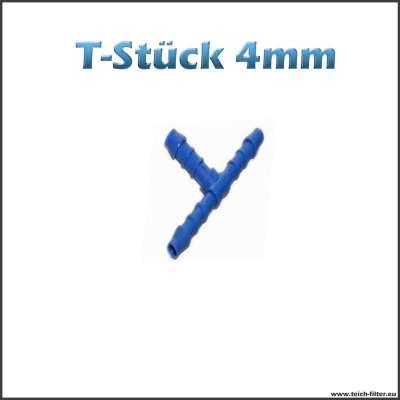 T-Stück 4 mm aus Kunststoff