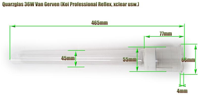 quarzglas-van-gerven-36w-uvc-klaerer-ersatz-abmessung-465mm-laenge-aquaforte-koi-professional-reflex-xclear