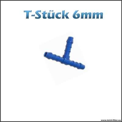 T-Stück 6 mm aus Plastik