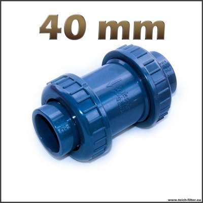 40 mm Rückschlagventil aus PVC für Wasserpumpen im Teich und Garten