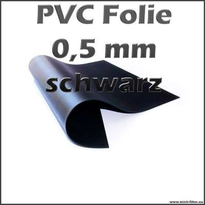 0,5 mm Teichfolie aus PVC in schwarz als Zuschnitt im Shop