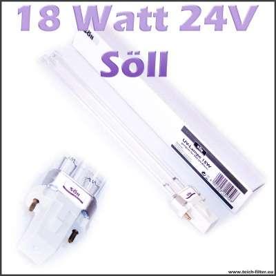 18 Watt 24 Volt UV Lampe von Söll für Wasserfilter