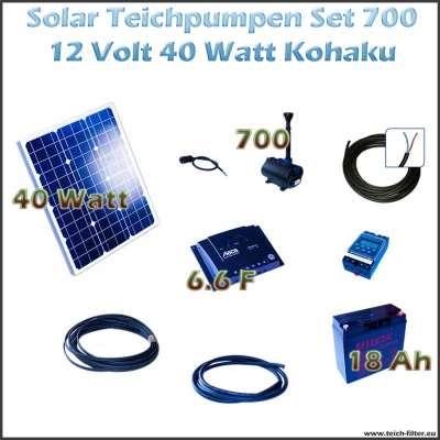 40w 12v solar teichpumpe mit akku als set f r. Black Bedroom Furniture Sets. Home Design Ideas