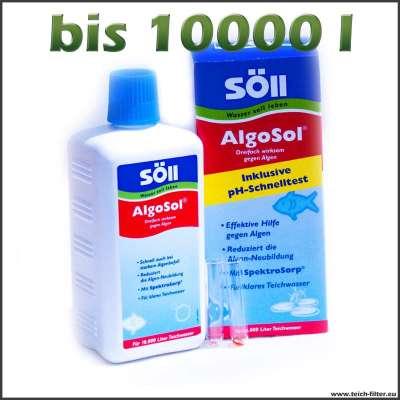 500 ml Söll Algosol gegen Faden- und Blaualgen für 10000 l Wasser