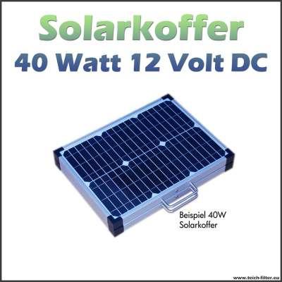 40 Watt Solarkoffer 12 Volt für Wohnmobil und Camping als faltbares Solarmodul