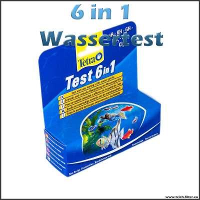 6in1 Wasserteststreifen Tetra für Teich