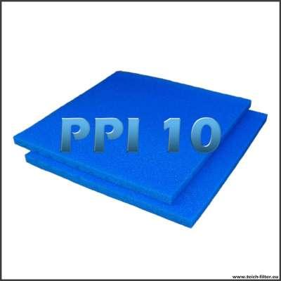 2 mal Filterschwamm für Wasserfilter am Teich mit je 100 x 100 x 5 cm in PPI 10