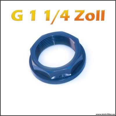 G 1 1/4 Zoll Mutter VDL aus PVC Kunststoff für Teich und Wasser