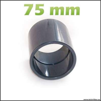 75mm Muffe aus PVC für HT und KG Rohre