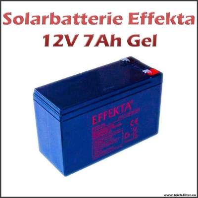 Solarbatterie 7Ah 12V Gel Effekta wartungsfrei und zyklenfest für Wohnmobil und Garten