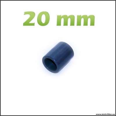 Muffe aus PVC mit 20 mm Innendurchmesser