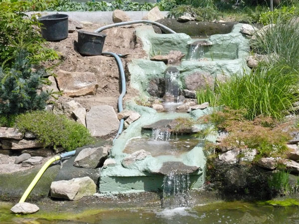 Lieblings Wasserfall für Teich und Garten selber bauen mit Bauanleitung @LZ_15
