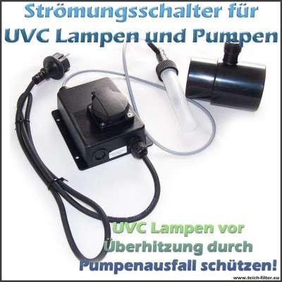 Strömungsschalter Flow Switch als Überwachung für UVC Lampen