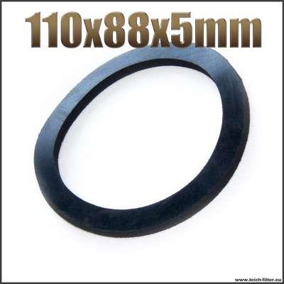 Dichtung 110x88x5mm schwarz flach EPDM Gummidichtung für G 3 Zoll Aussengewinde auf Schlauchtüllen