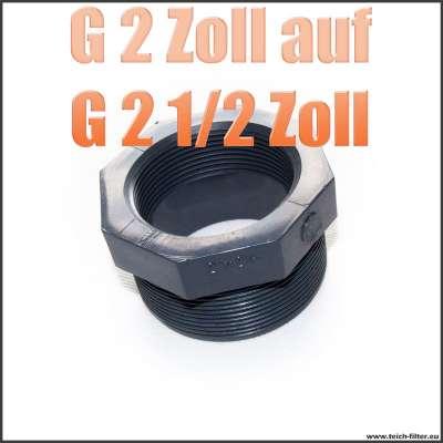 Gewindeadapter G 2 Zoll Innengewinde auf G 2 1/2 Zoll Aussengewinde