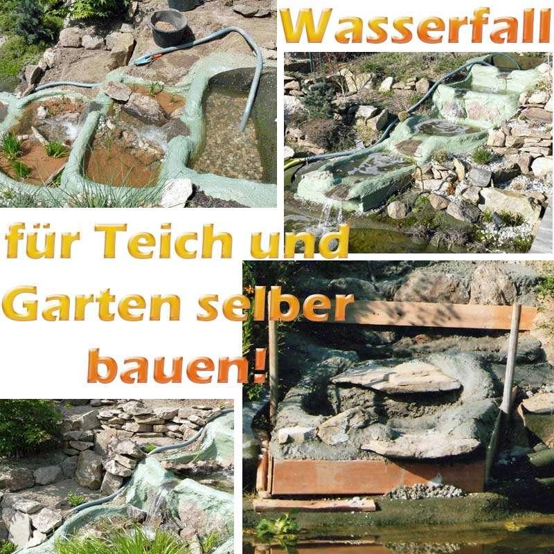 Wasserfall f r teich und garten selber bauen mit for Teich fische ohne filter
