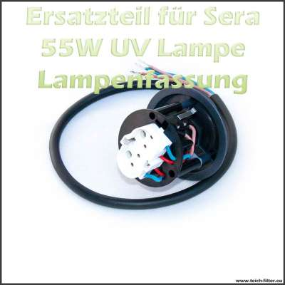 Ersatzteil 31204 Fassung mit Kabel für Sera UVC Klärer 55W