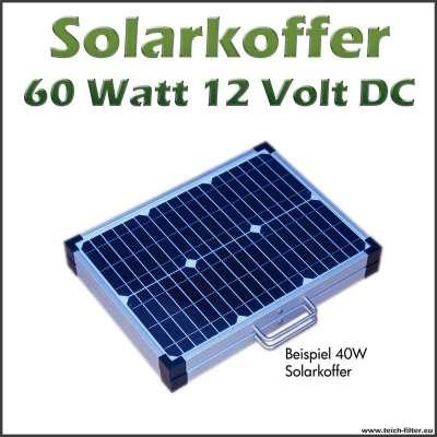 Solarkoffer 60 Watt 12 Volt DC für Wohnmobile und Camping faltbar und flexibel