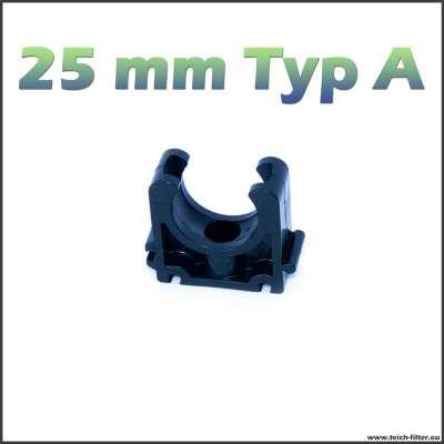 25 mm Rohrschelle Kunststoff VDL halb