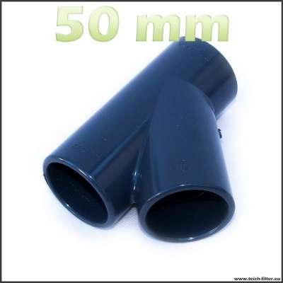 50 mm Y-Verteiler aus Kunststoff für Teich und Wasser
