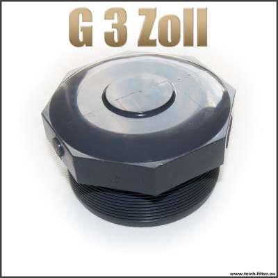 Verschlussstopfen Gewindestopfen G 3 Zoll aus Kunststoff Plastik