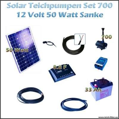 50w 12v solar teichpumpe mit akku als set f r gartenbrunnen 700 sanke. Black Bedroom Furniture Sets. Home Design Ideas