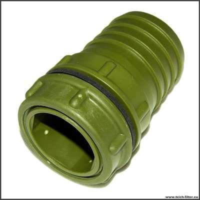 Grüner 50 mm Anschluss für Teichfilter mit G 1 1/2 Zoll Gewinde