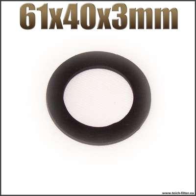 Dichtung 61x40x3mm schwarz flach EPDM Gummidichtung für Schlauchtüllen